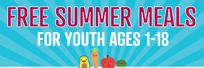 Free summer meals banner